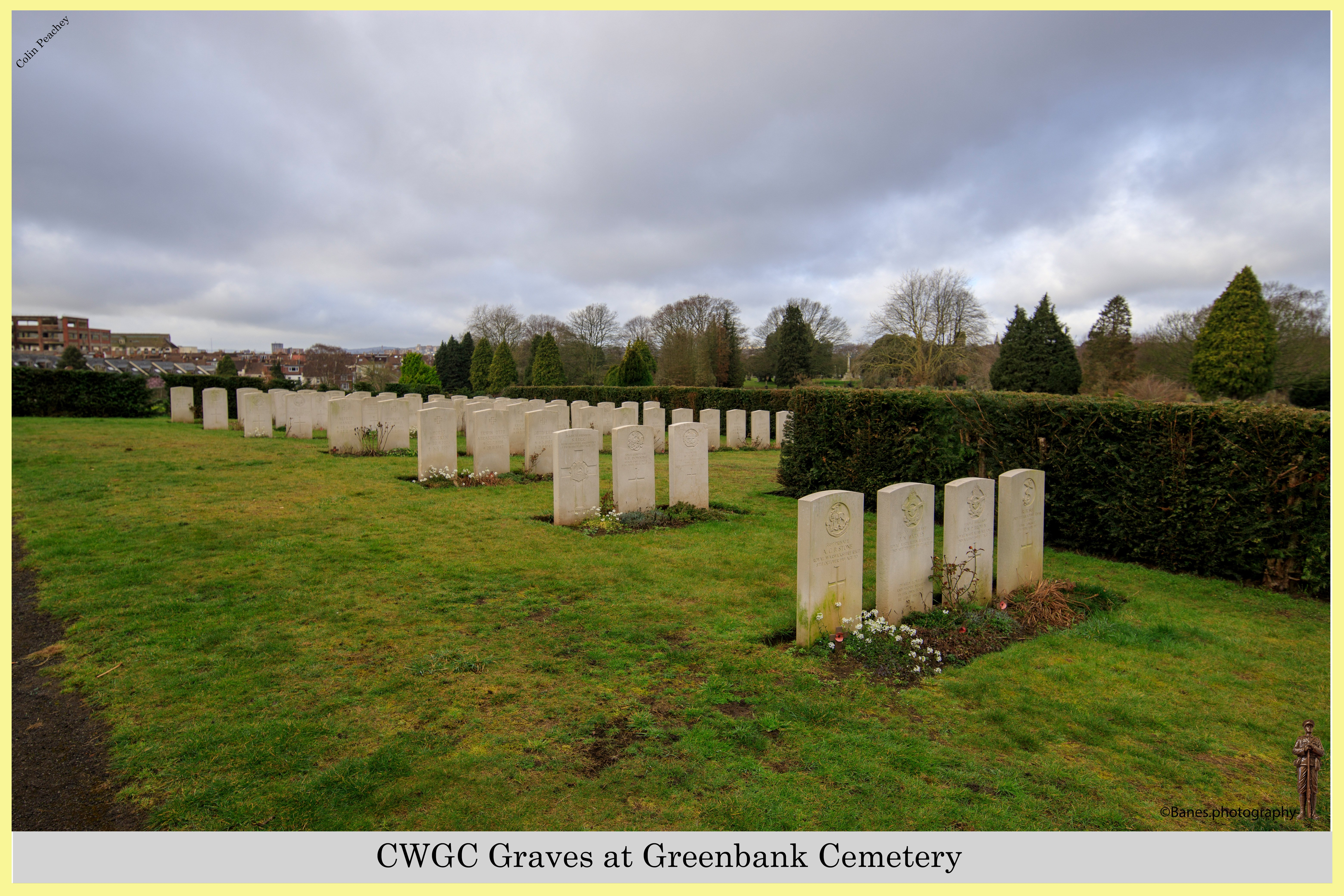 CWGC Graves at Greenbank Cemetery (01) (Postcard) Ref 4872-2