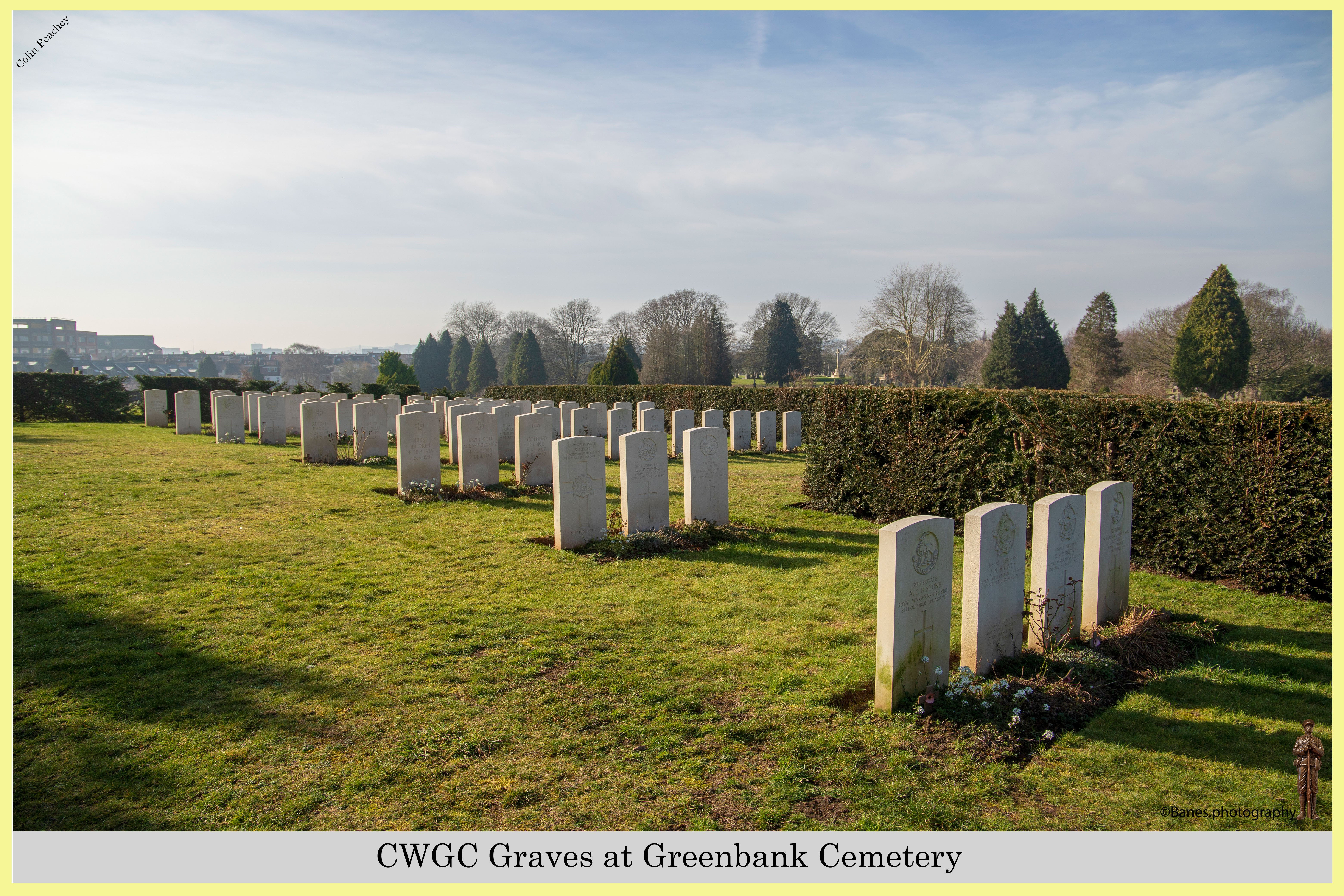 CWGC Graves at Greenbank Cemetery (02) (Postcard) Ref 2877-2