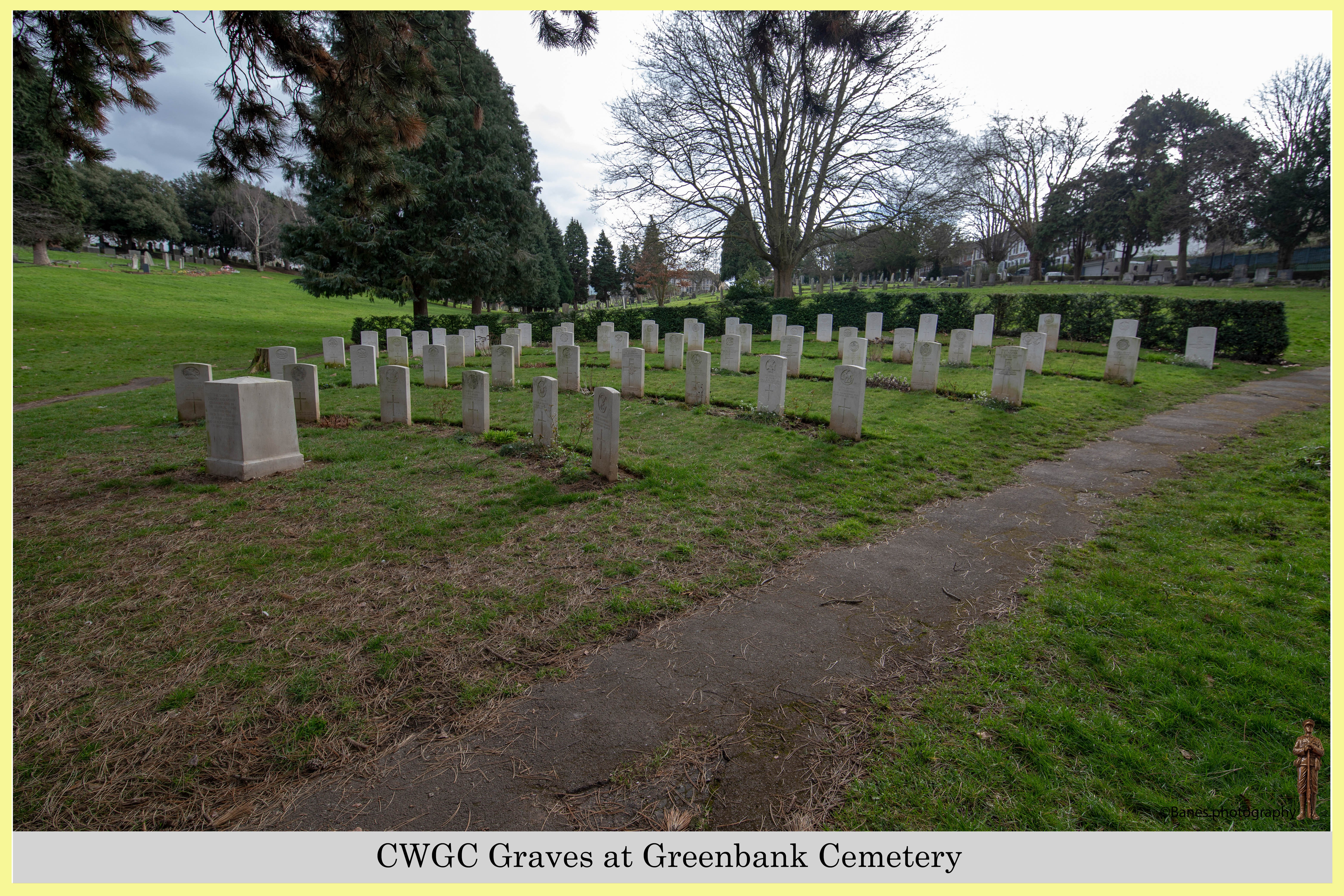 CWGC Graves at Greenbank Cemetery (03) (Postcard) Ref 2754-2