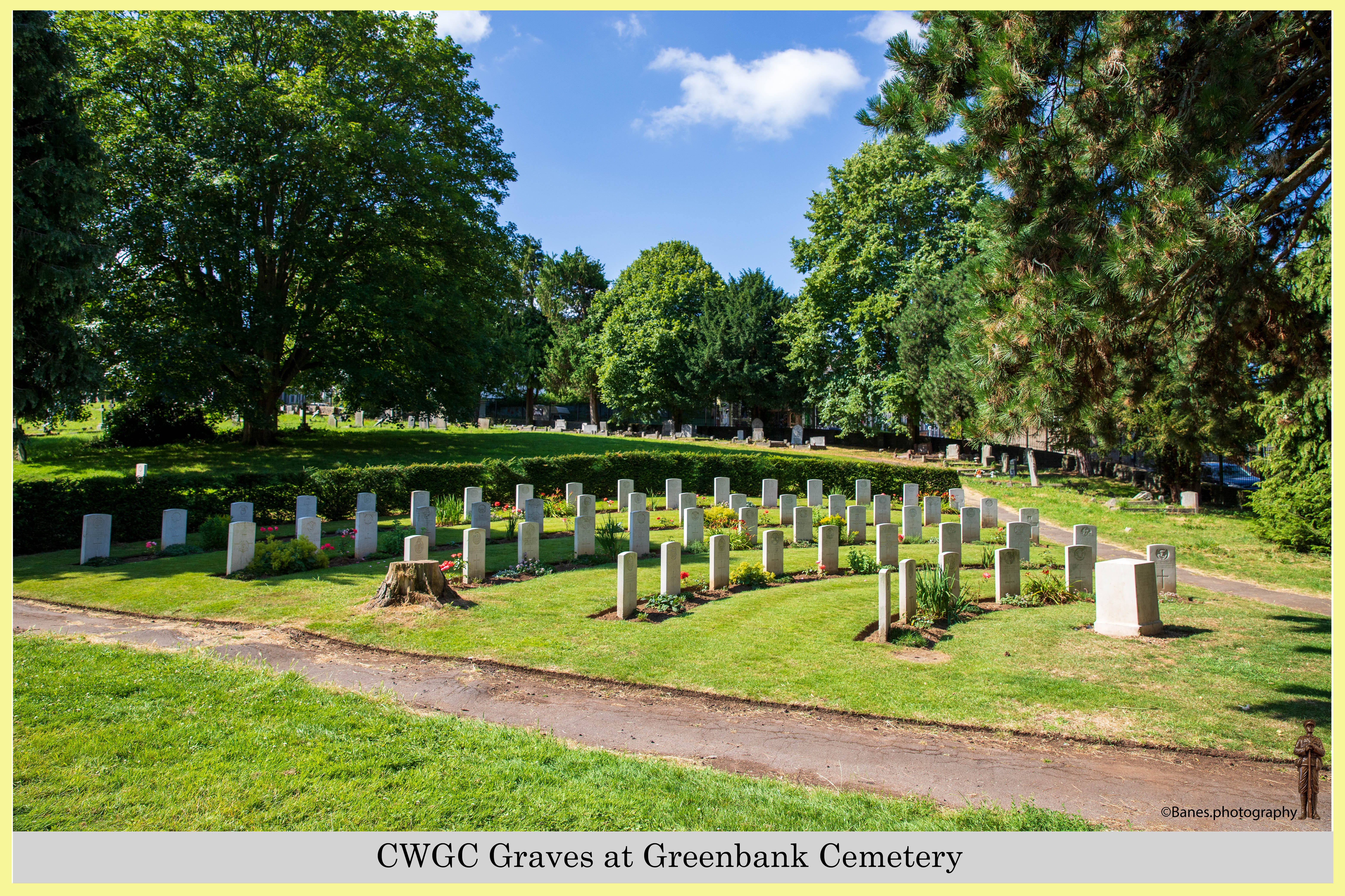 CWGC Graves at Greenbank Cemetery (05) (Postcard) Ref 6506-2