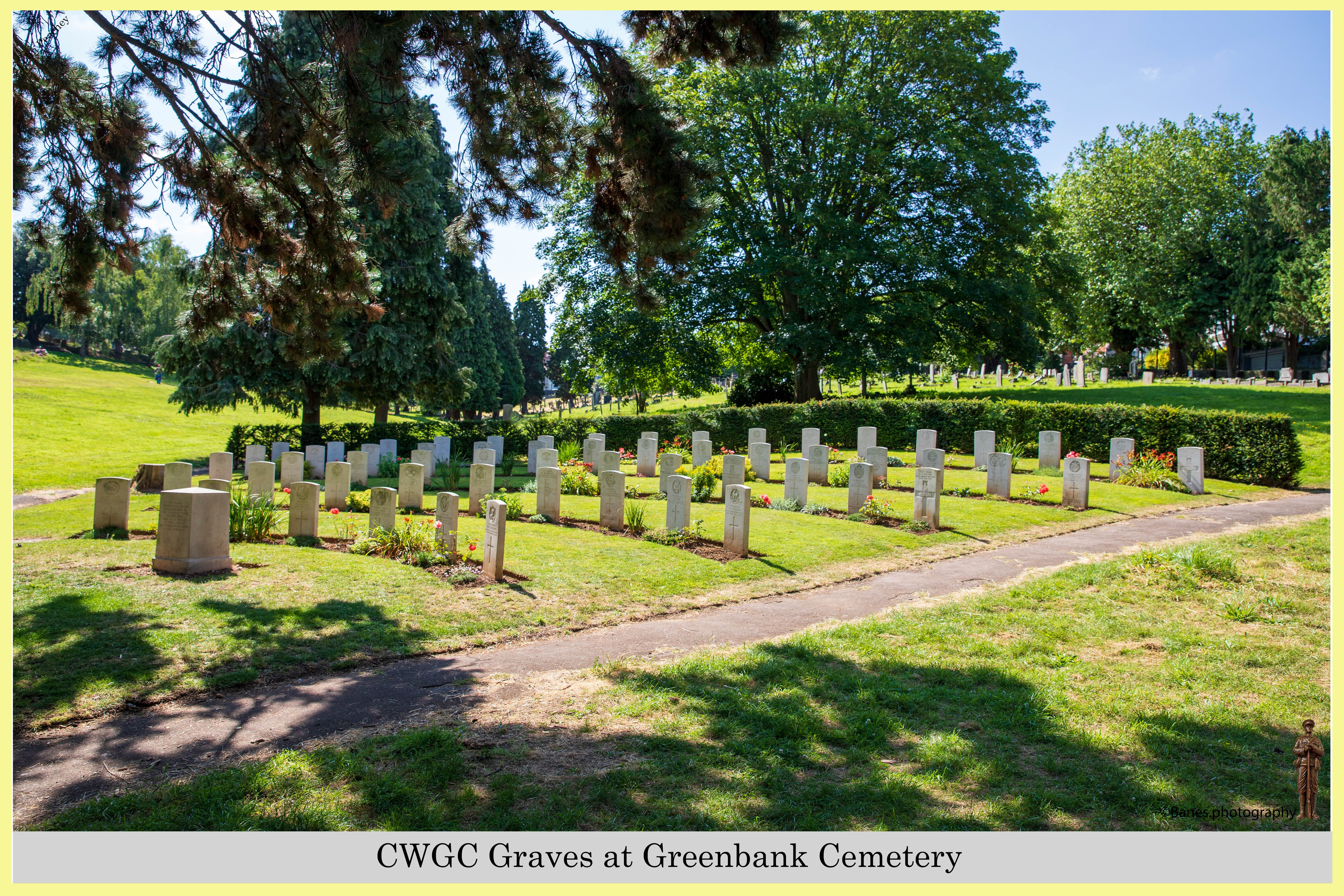CWGC Graves at Greenbank Cemetery (06) (Postcard) Ref 6507-2