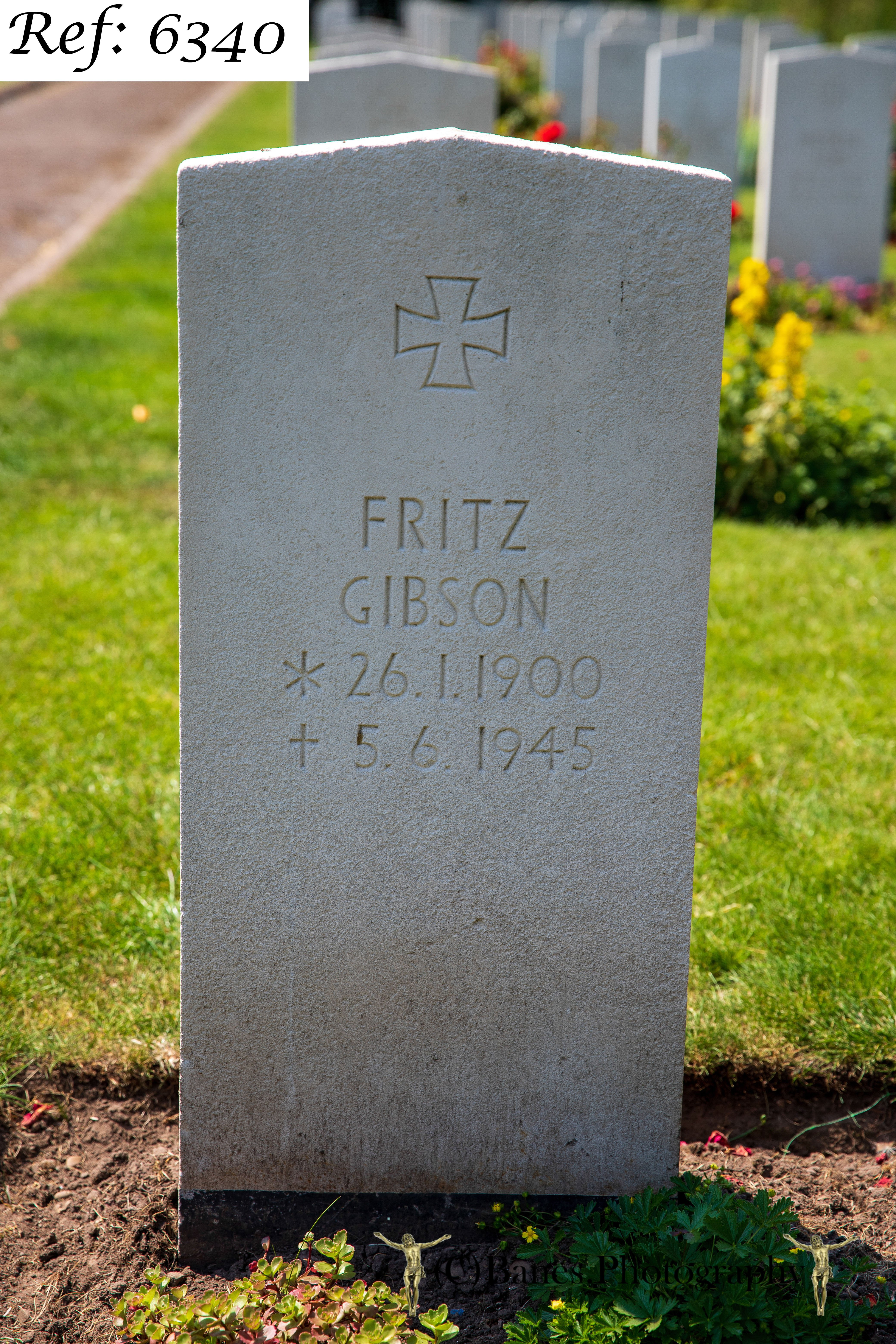 Gibson, Fritz, Beachley Military Cemetery (Web 2 WM) Ref 6340