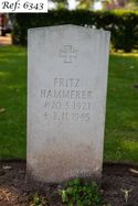 Hammerer, Fritz, Beachley Military Cemetery (Web 2 WM) Ref 6343