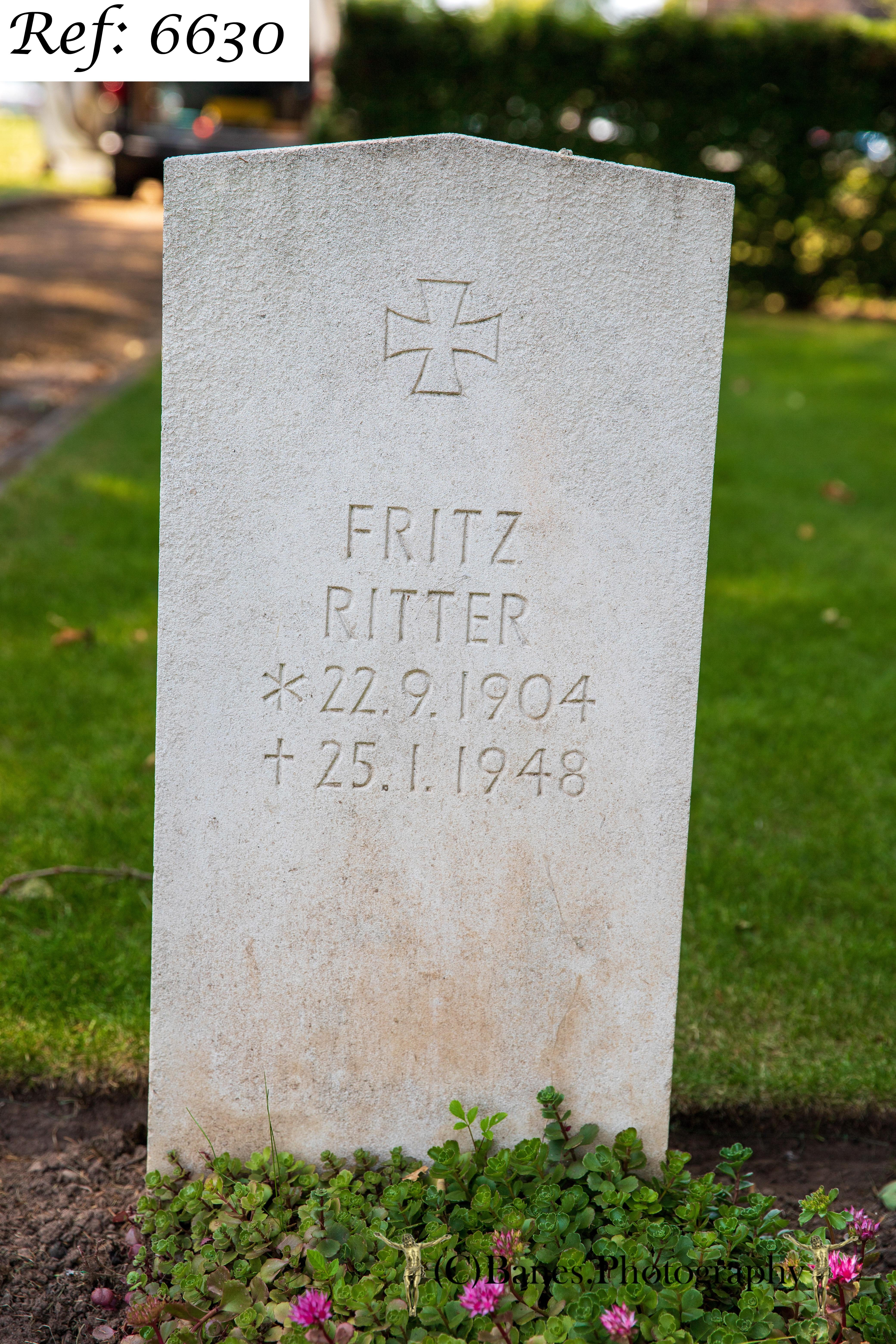 Ritter, Fritz, Beachley Military Cemetery (Web 2 WM) Ref 6630