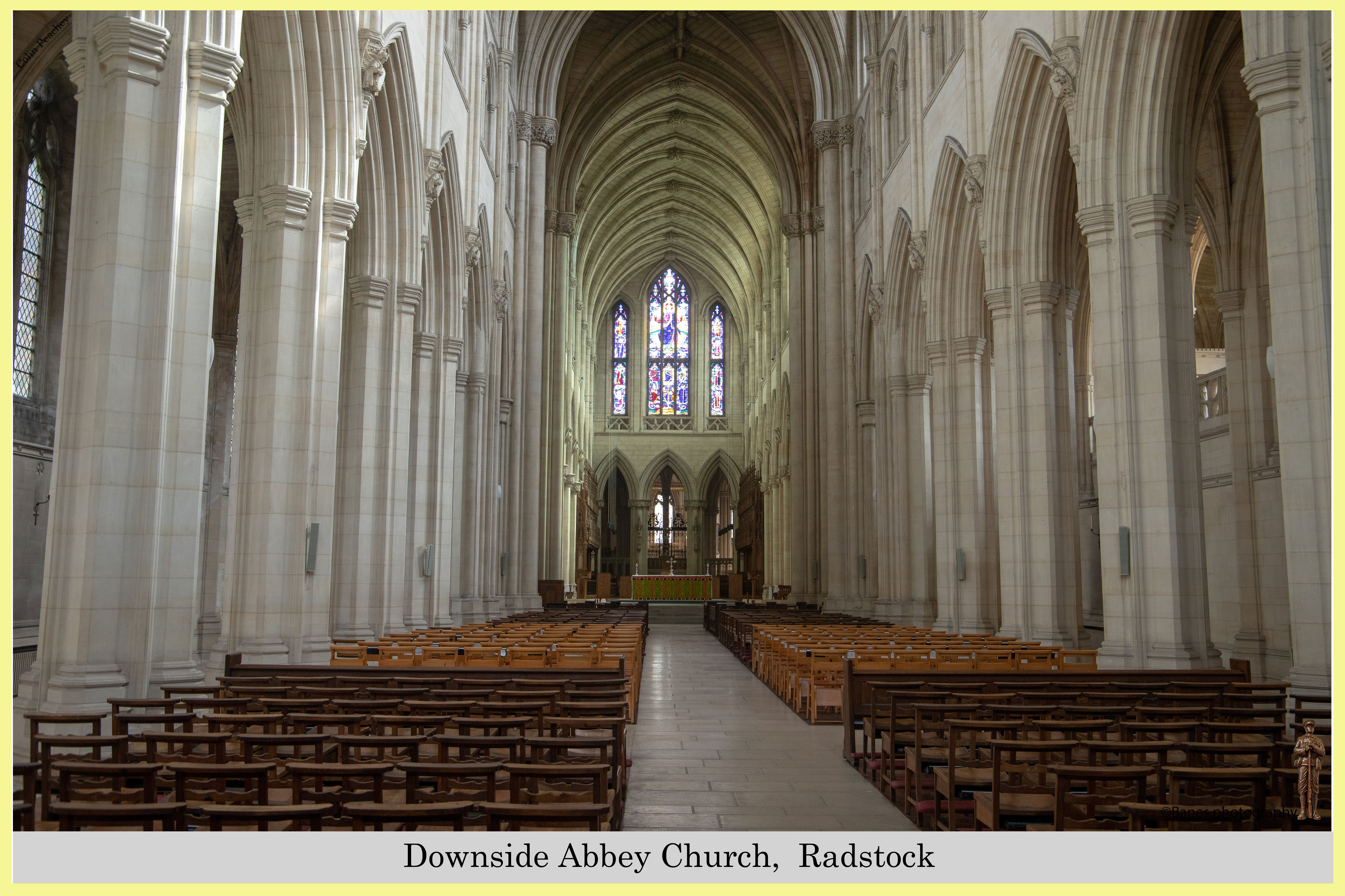 The interior of Downside Abbey Church,  Radstock, UK
