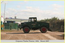 Unipower Timber Tractor, Reg No. LBM 640, 1952