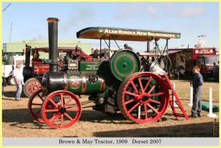 Brown & May Tractor, Reg No. BP 9887, 1909