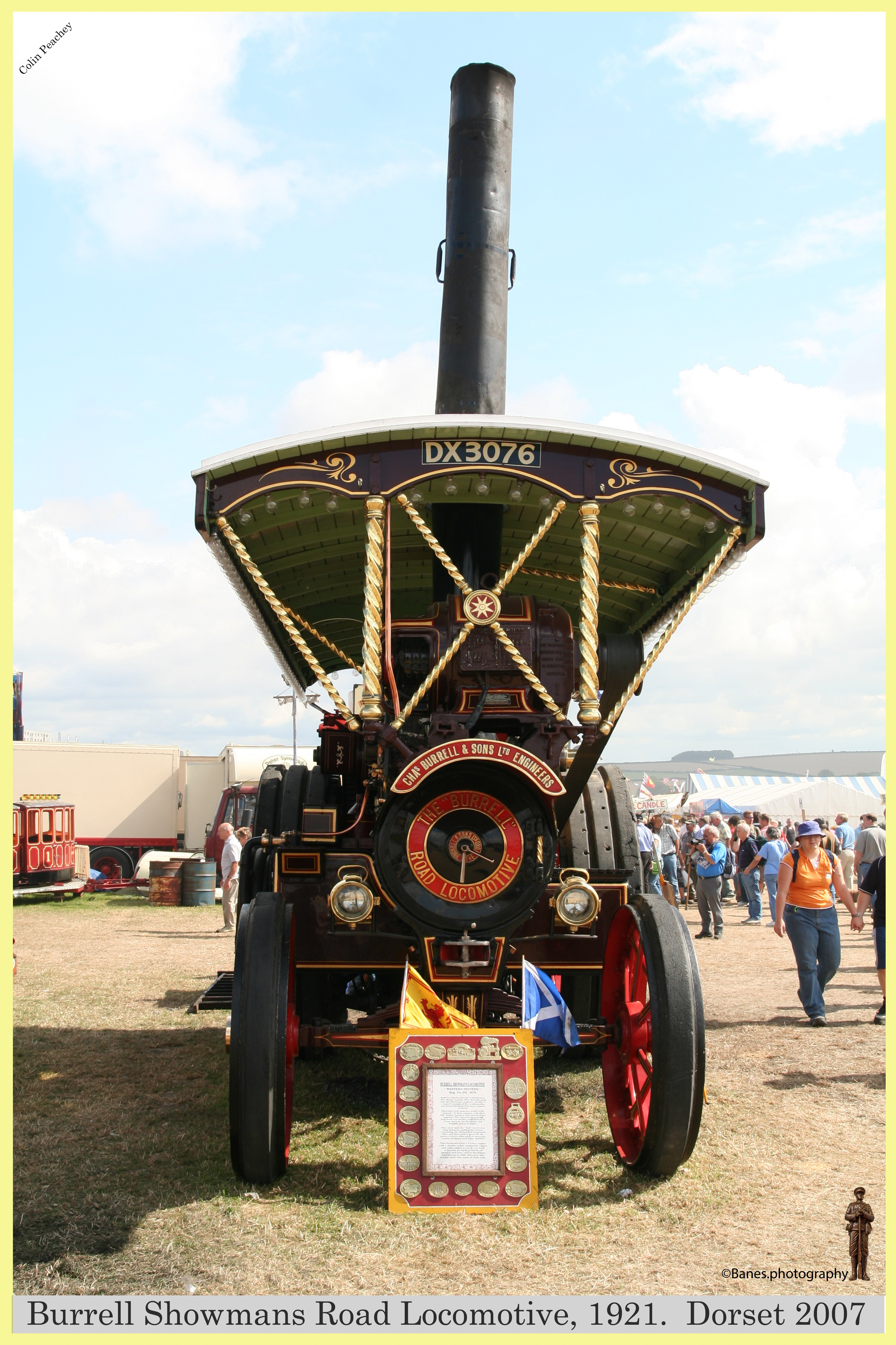 Burrell Showmans Road Locomotive, Reg No. DX 3076, 1921