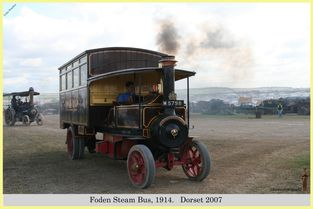 Foden Steam Bus, Reg No. M 5798, 1914