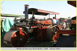 Wallis & Steevens Road Roller, Reg No. DHO 364, 1939